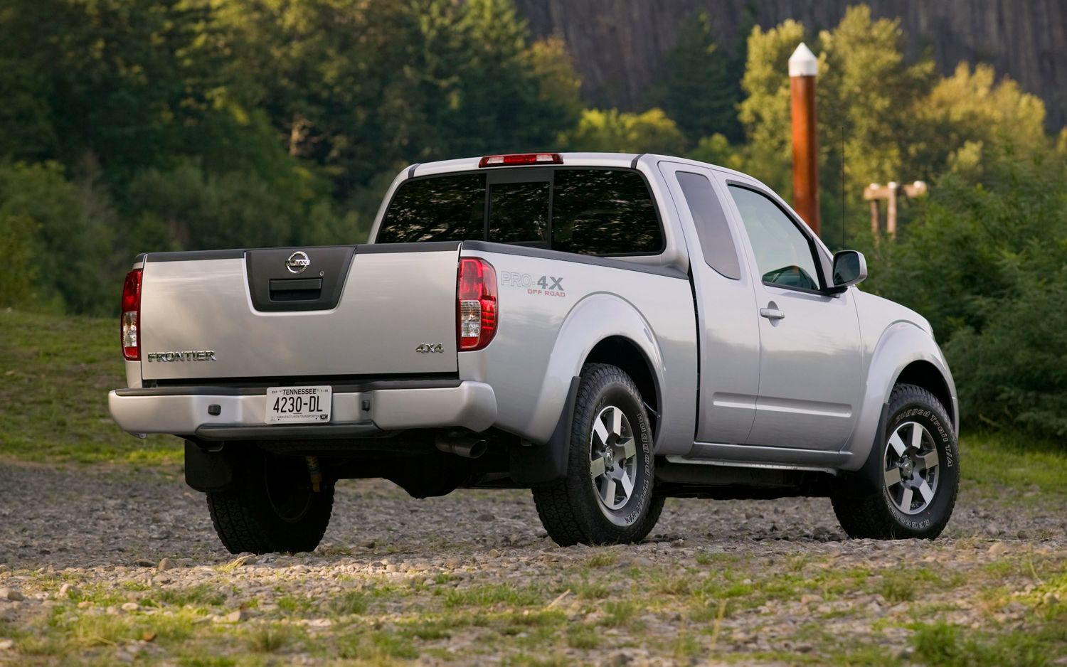 2012 Nissan Frontier Pro 4X Rear Three Quarter Photo On January 4, 2013  #LUND #AVS #Accessories