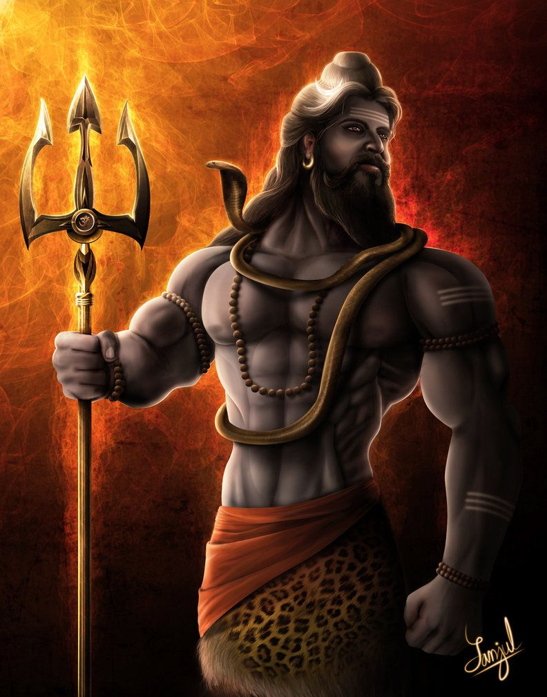 lord shiva (the supreme god) -digital paintingsanjulwhiteshadow