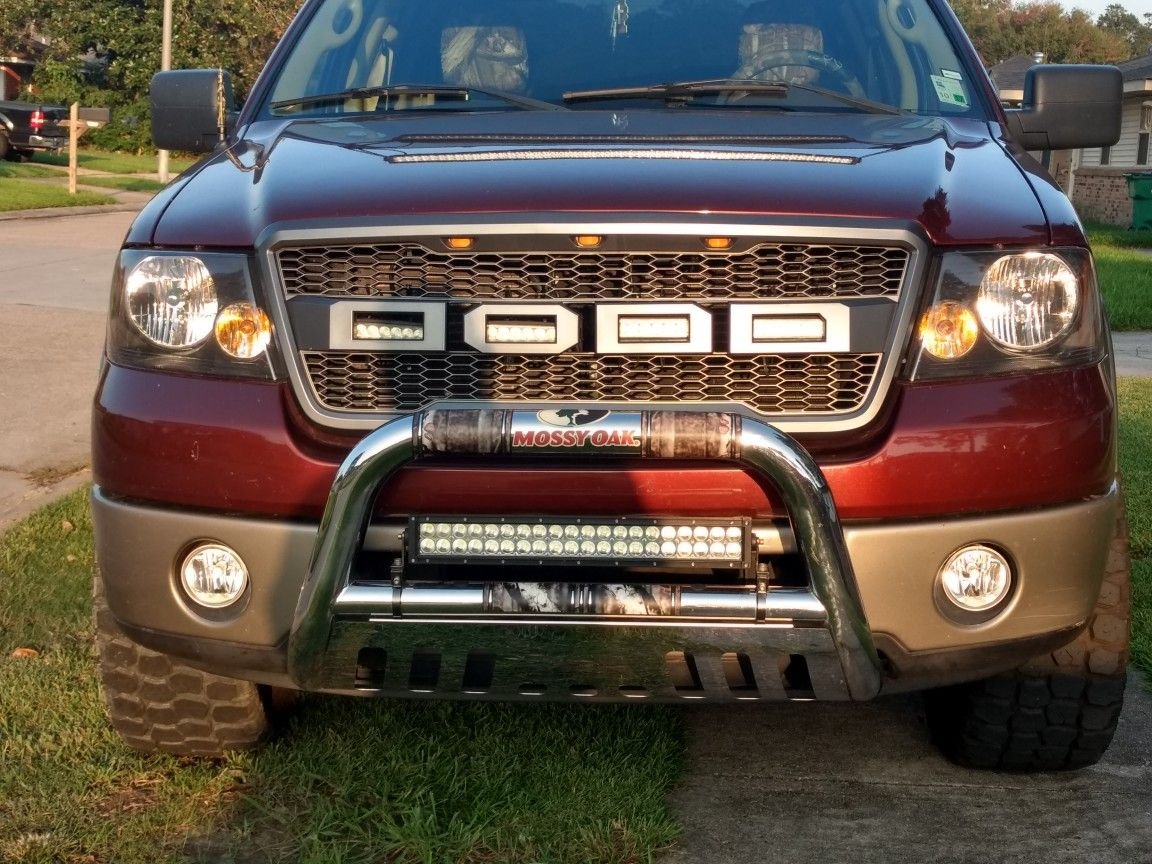 New bull bar and light Ford f150 king ranch, 2006 ford