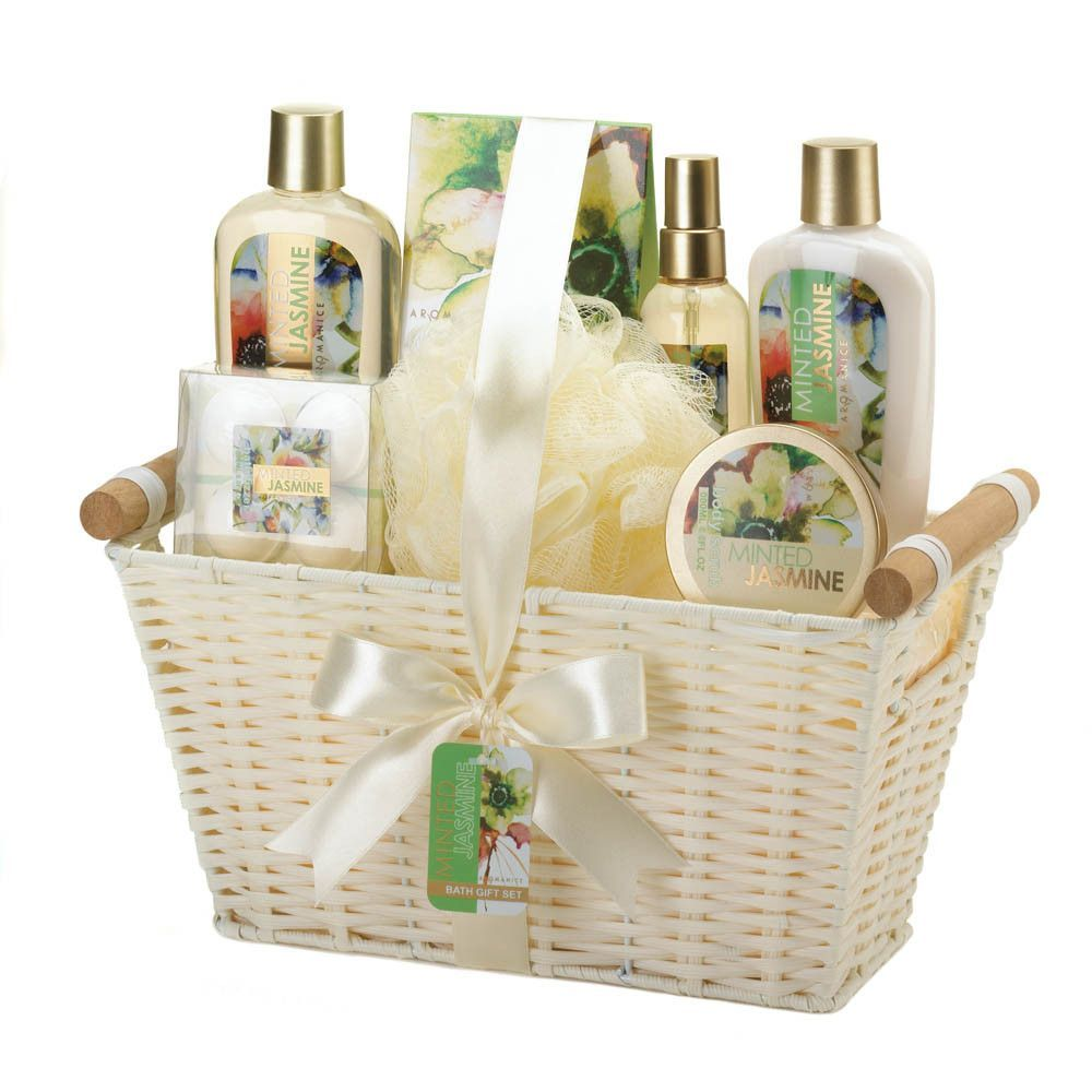 Minted Jasmine Spa Gift Basket   Pinterest   Spa gifts and Products