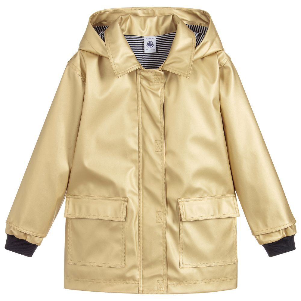 823a591db Girls Gold Raincoat for Girl by Petit Bateau. Discover more beautiful  designer Coats & Jackets for kids online