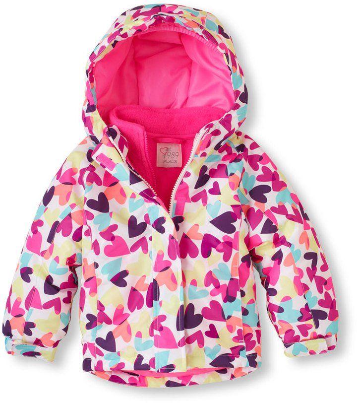 425578db5c38 Girls  Heart Print 3-in-1 Jacket