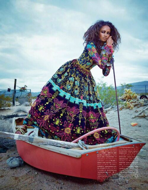 "Malaika Firth in ""The Fiesta Of Solitude"" by Emma Summerton for Vogue Japan, July 2014"