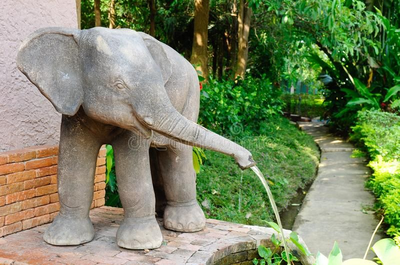 Photo about Elephant fountain in the park. Image of garden, structure, temple - 22560476 #elephantitems
