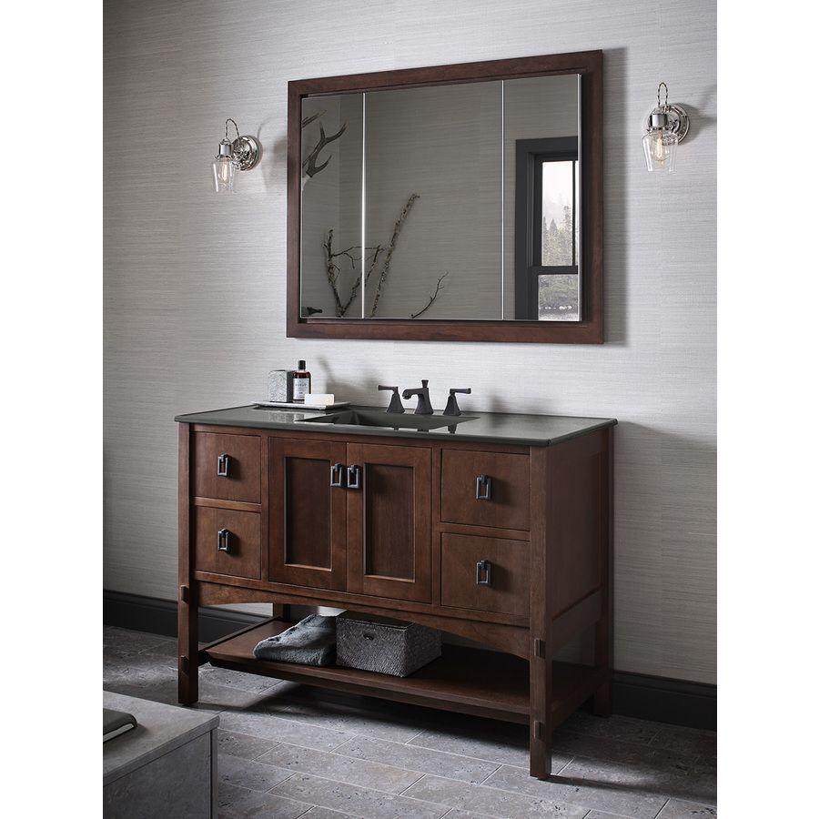 Lowes Bathroom Design Ideas Shop Kohler Verdera 40In X 30In Rectangle Recessed Aluminum