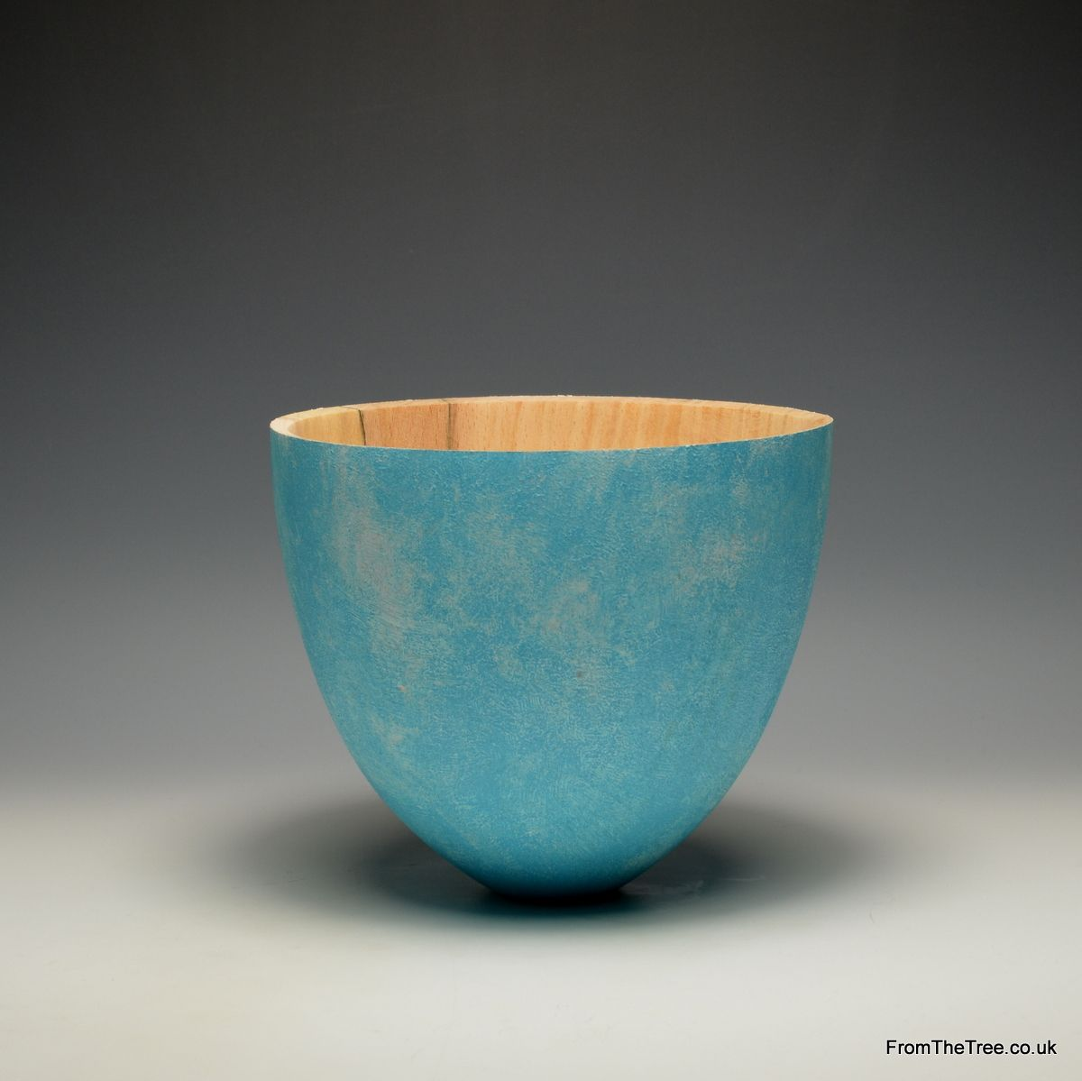 Beech, gesso & acrylic bowl made by George Watkins