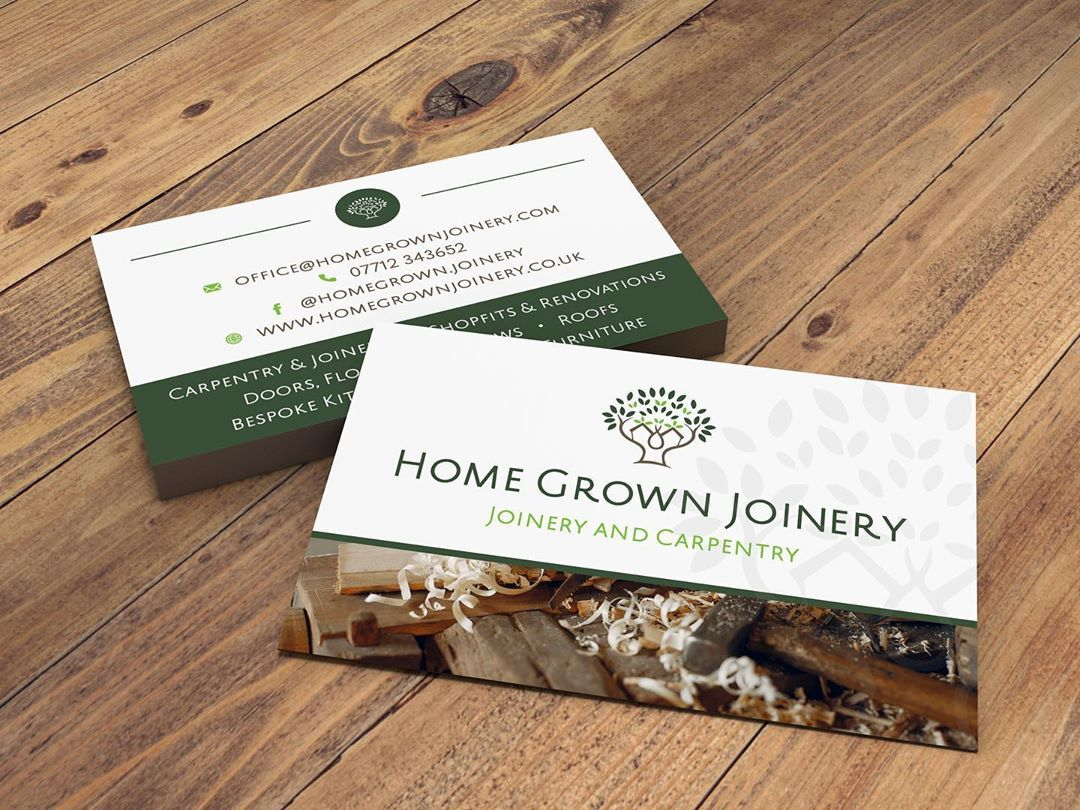 We Recently Produced These Gorgeous Business Cards For A Joinery Carpentry Business In Bakewell The Business Already Had A Logo In P Spot Uv Carpentry Joinery