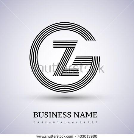 Letter GZ or ZG linked logo design circle G shape Elegant black - new zulu formal letter format