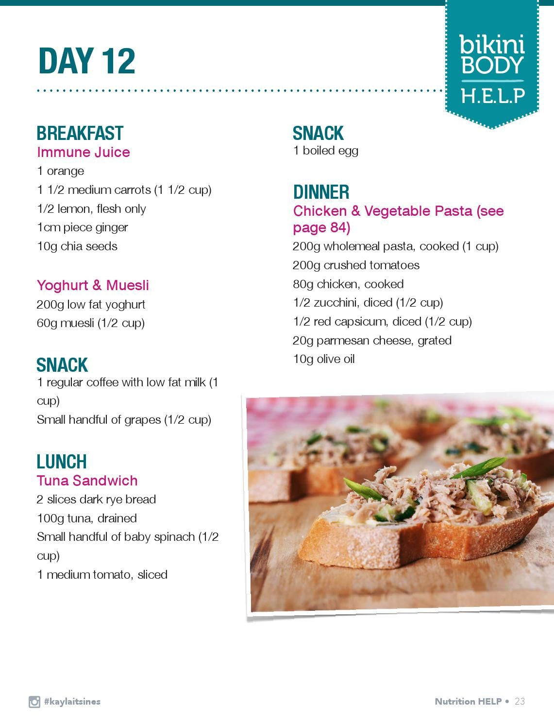 kayla itsines help recipe guide pdf