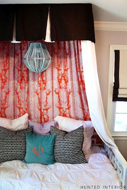 the HUNTED INTERIOR: canopy using crib skirt TUTORIAL