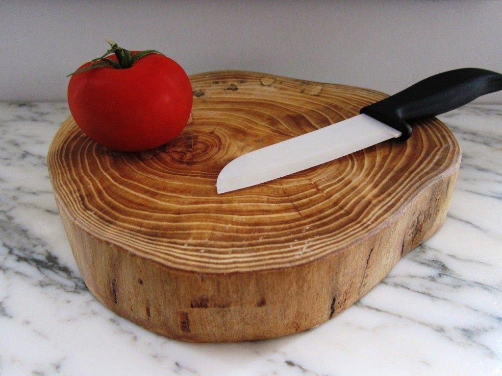 Tree slice cutting board schneidbrett pinterest for Birkenbaum deko