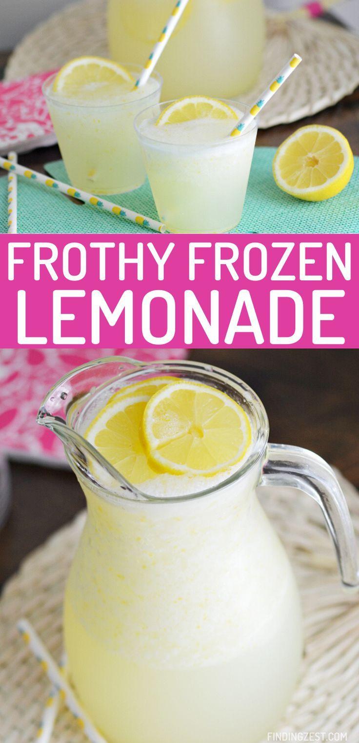 Homemade Frozen Lemonade in 2020 Homemade lemonade