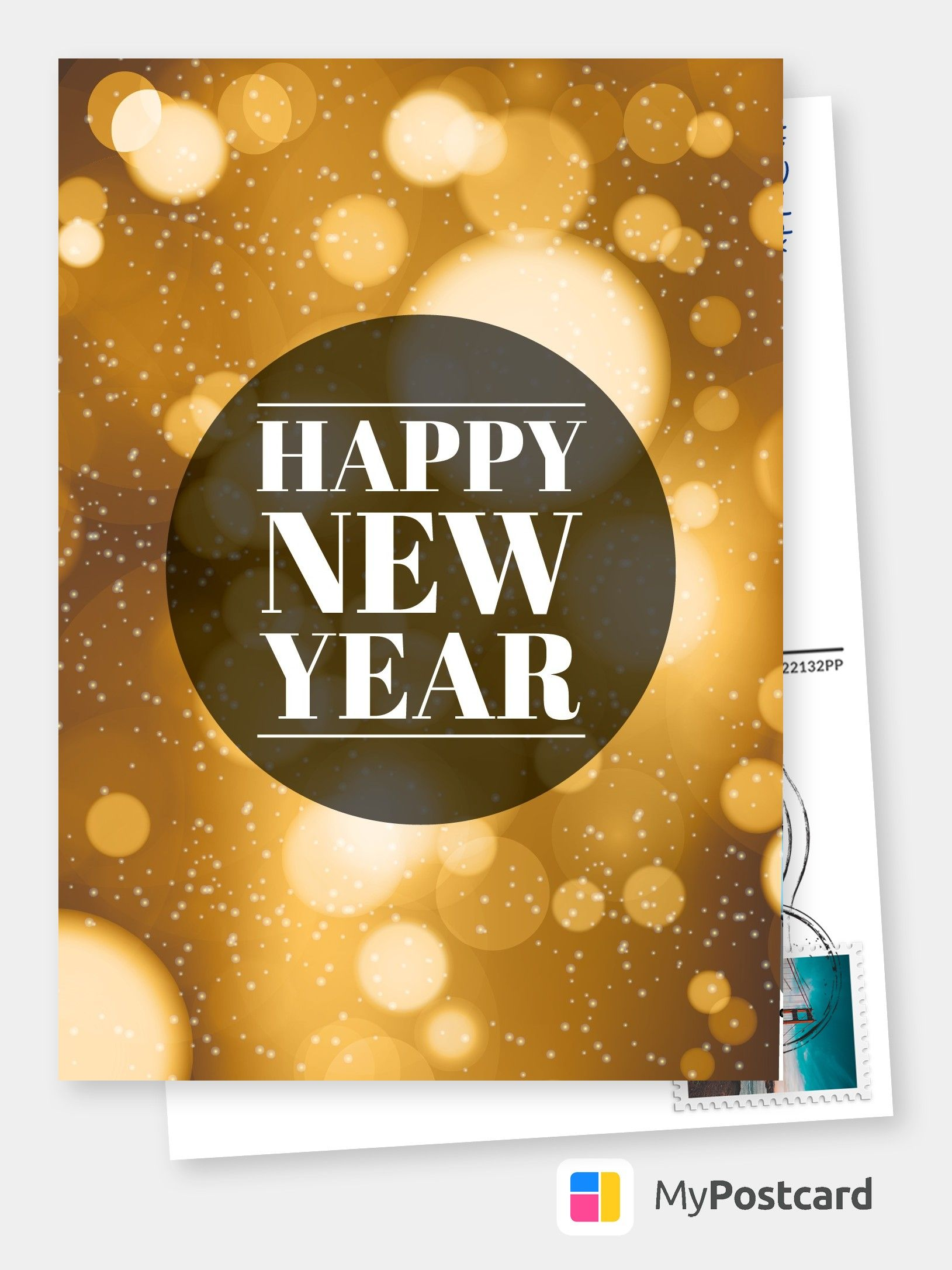 Printed Happy New Year Cards Online  Free International Shipping