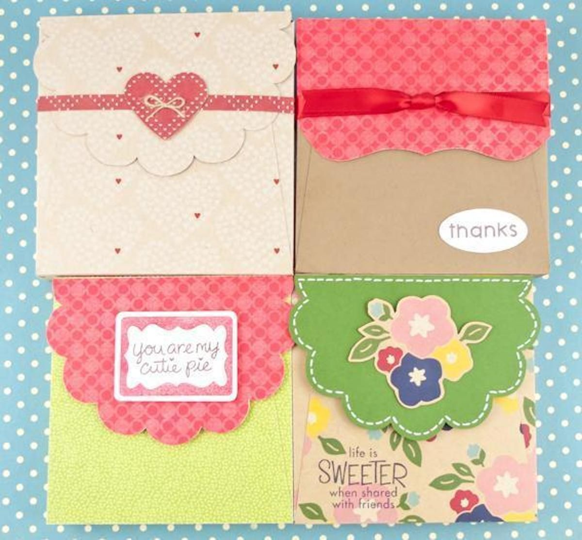 Scalloped Top Box Gifts Perky Packaging Pinterest