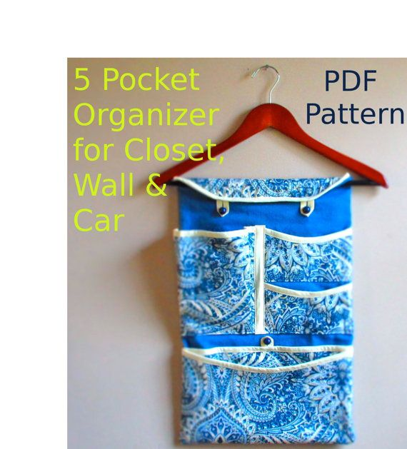 PDF Pattern Fabric Pocket Organizer for Wall by ...