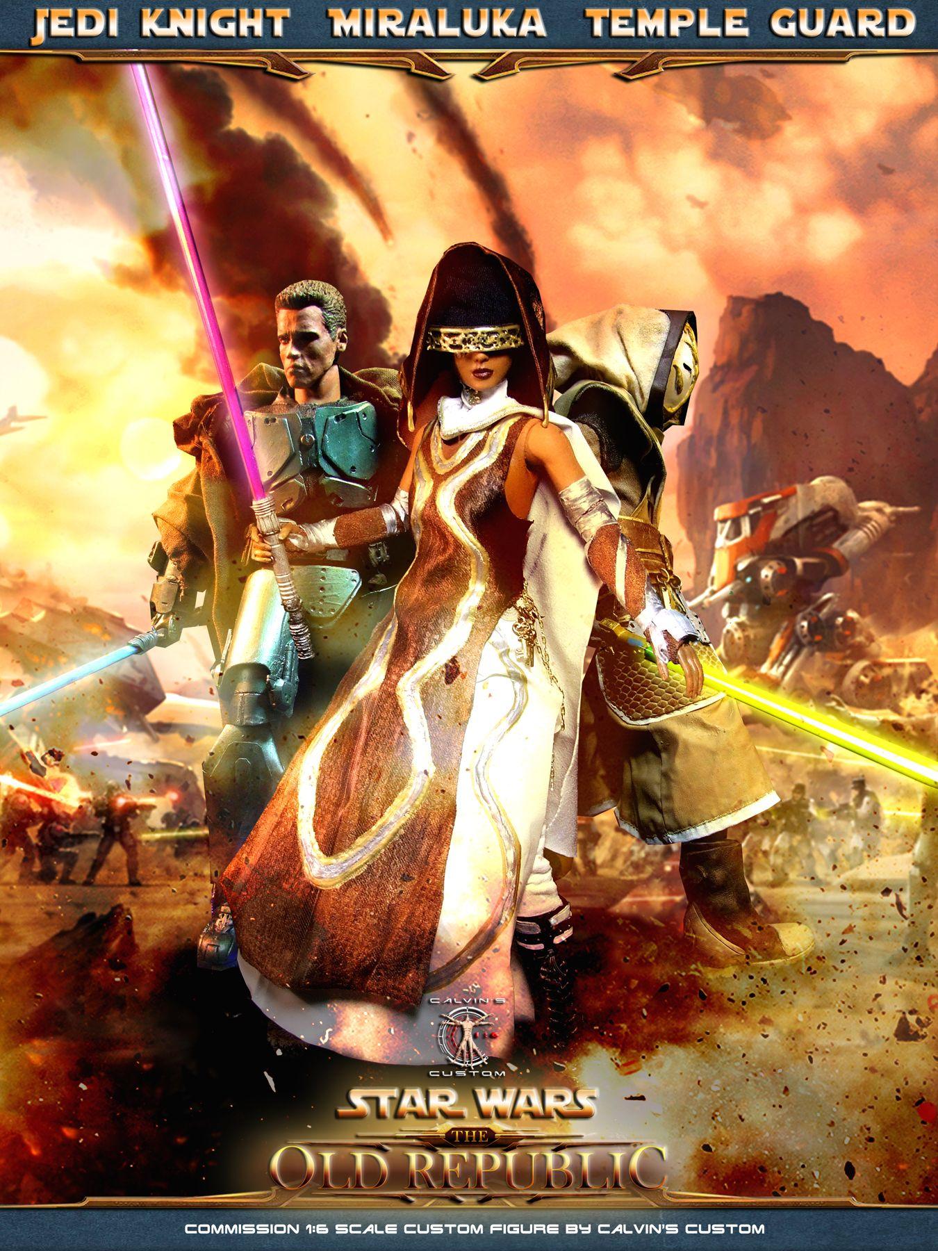 Star Wars Old Republic Timeline : republic, timeline, Calvin's, Custom, Sixth, Scale, SWTOR, Republic:, MIRALUKA,, Knight,, Temple, Guard, Figures