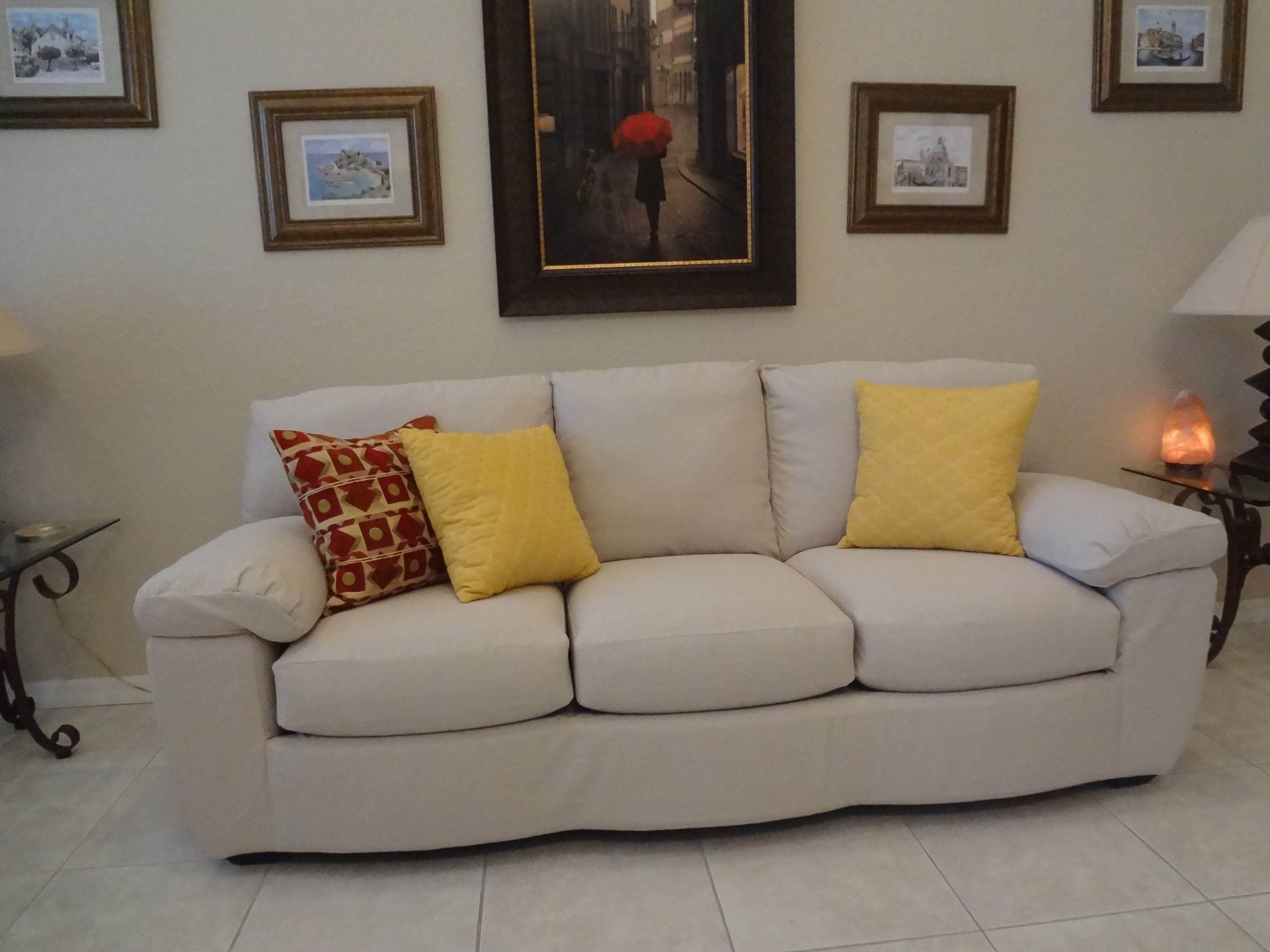 Well here is another drop cloth custom slipcover project plete