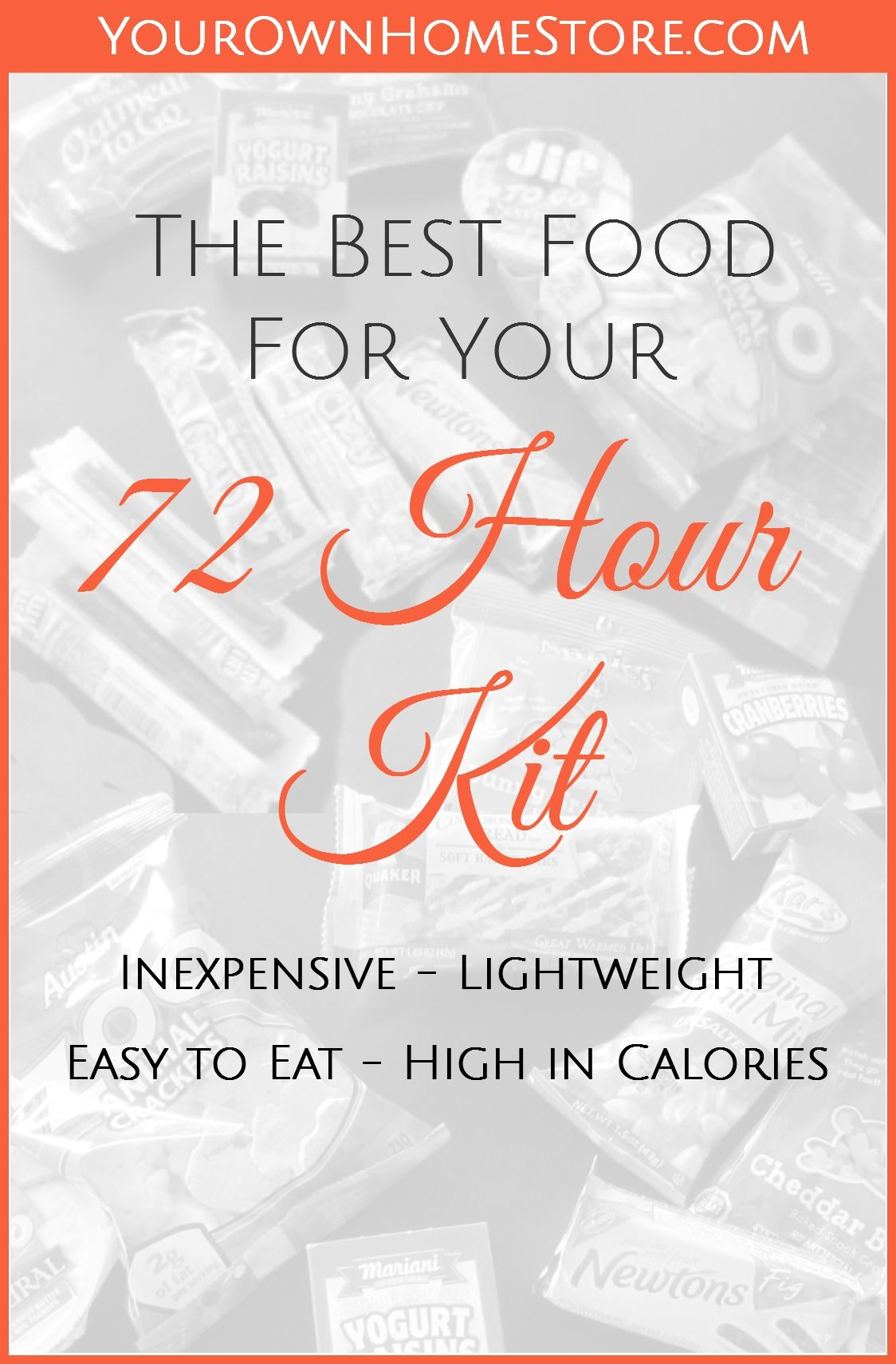 The Best Food for Your 72 Hour Kit List #hurricanefoodideas