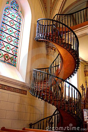 Loretto Chapel's miraculous staircase located in Santa Fe ...