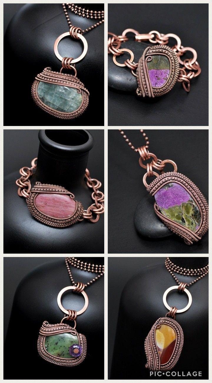 January 2018 so far! Wire wrap jewelry. Nicole Hanna Jewelry ...