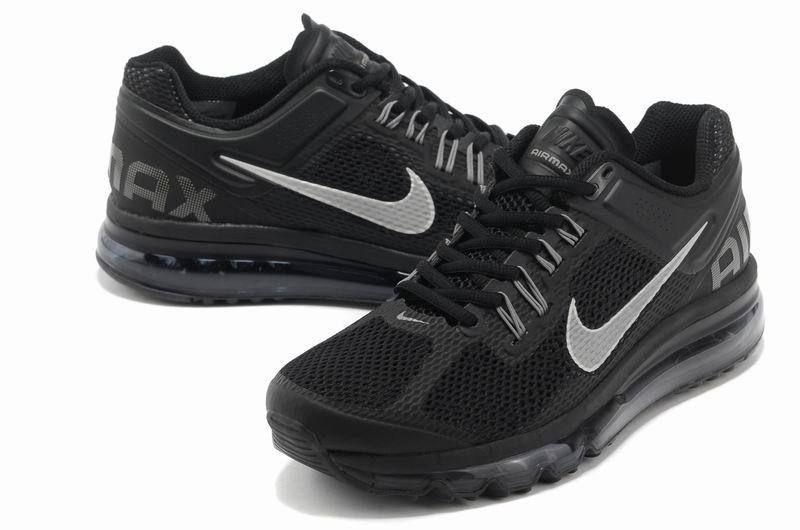 Mens running shoes Nike Air Max 2013 Black Dark Grey