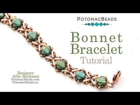 Bonnet Bracelet - DIY Jewelry Making Tutorial by PotomacBeads