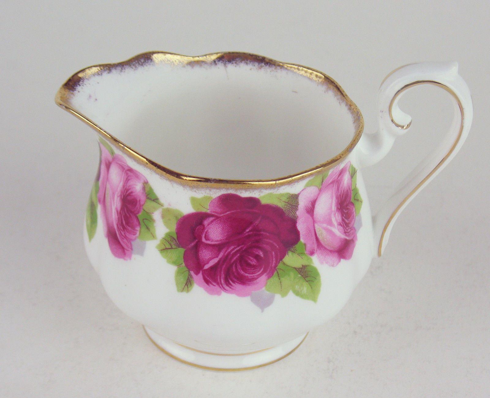 Royal albert bone china tea cup amp saucer winsome pattern ebay - Covered Sugar Bowl Creamer Royal Albert Old English Rose Bone China England