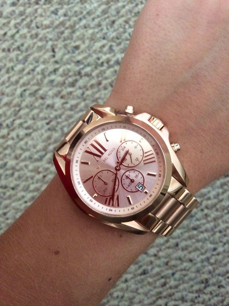 e68dd6f689fad Michael Kors MK5503 Bradshaw chronograph rose gold tone women watch with MK  box!  MichaelKors  Fashion