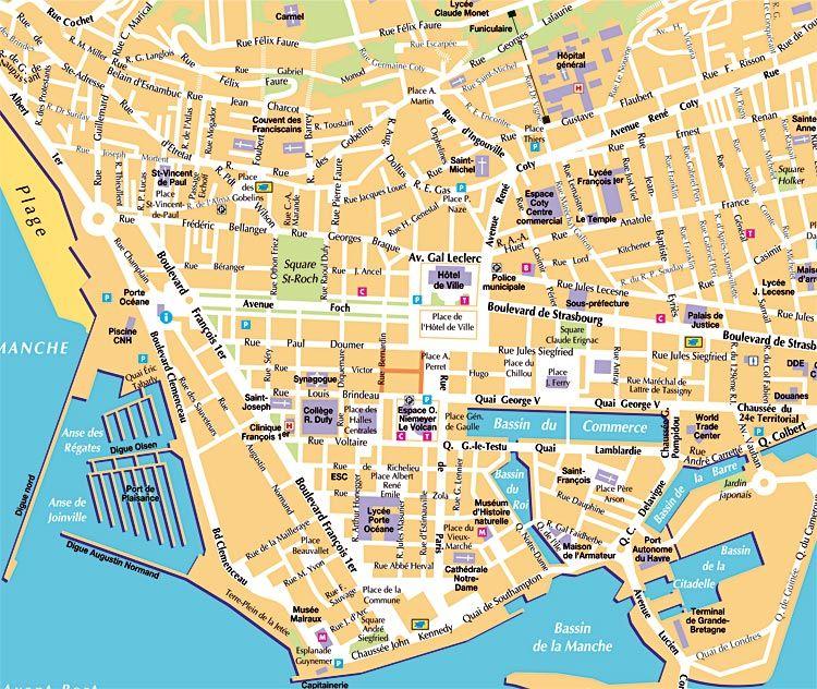 Karte Le Havre Creactie