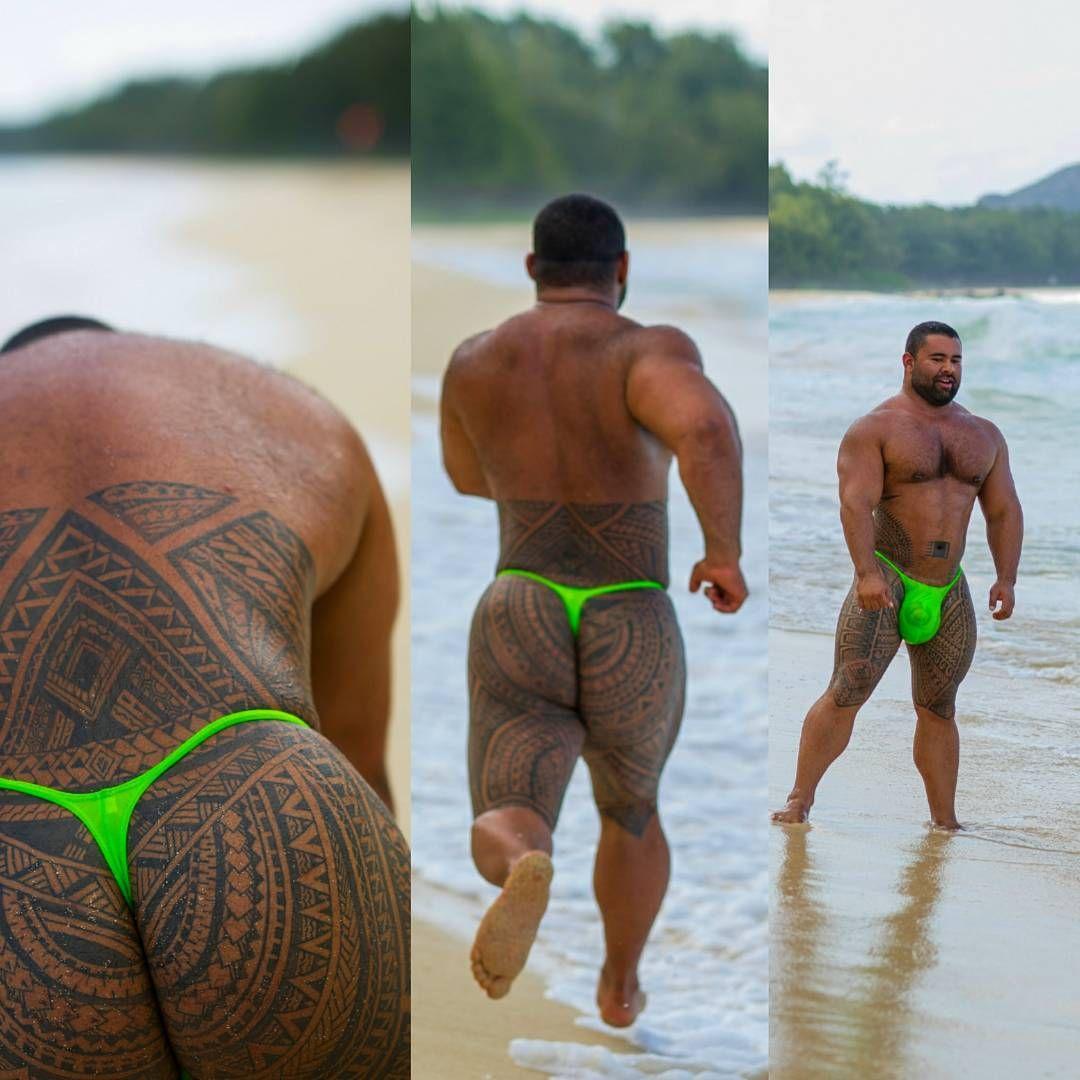 Hairy beach thong