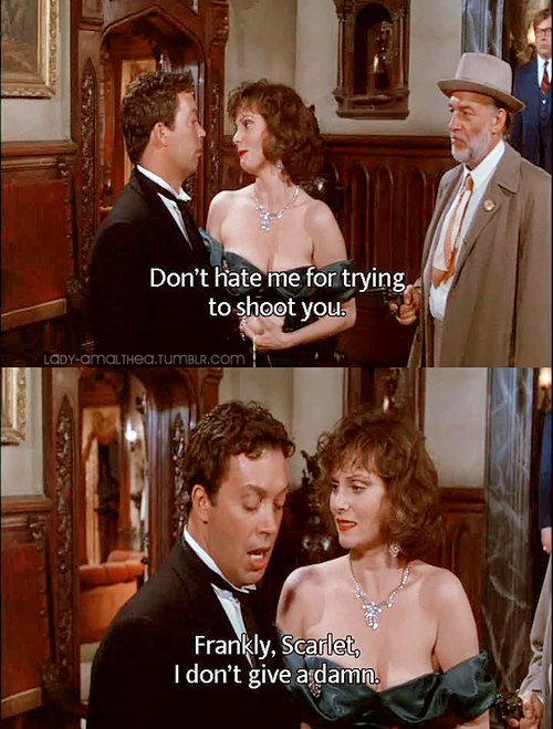 I watch a Tim curry movie every night to fall asleep. Rocky horrer and clue are my top two since forever!
