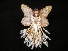 Sparkling White Angel by Beadwork by Sian, via Flickr  #beadwork #angel