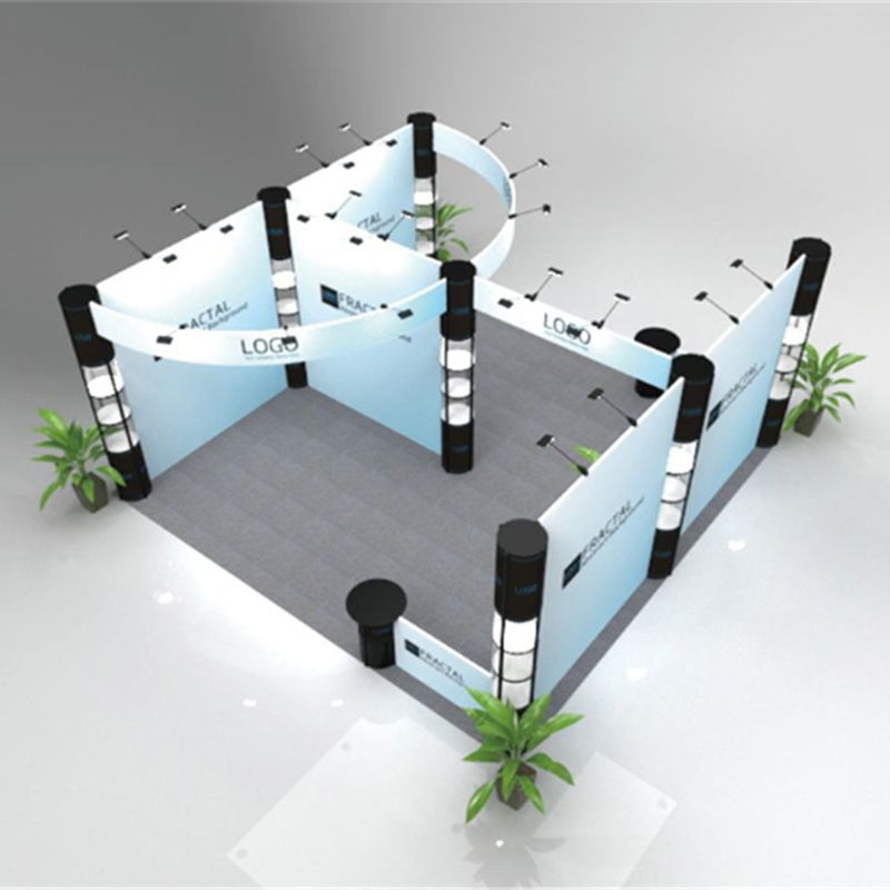 Portable Exhibition Booths : Large 20ft*20ft modular exhibition booth display system portable
