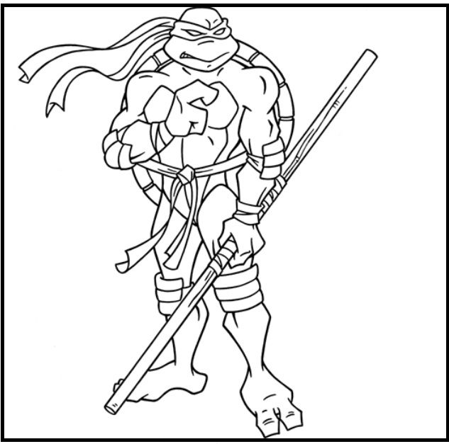 Teenage Mutant Ninja Turtles Donatello coloring picture for kids ...