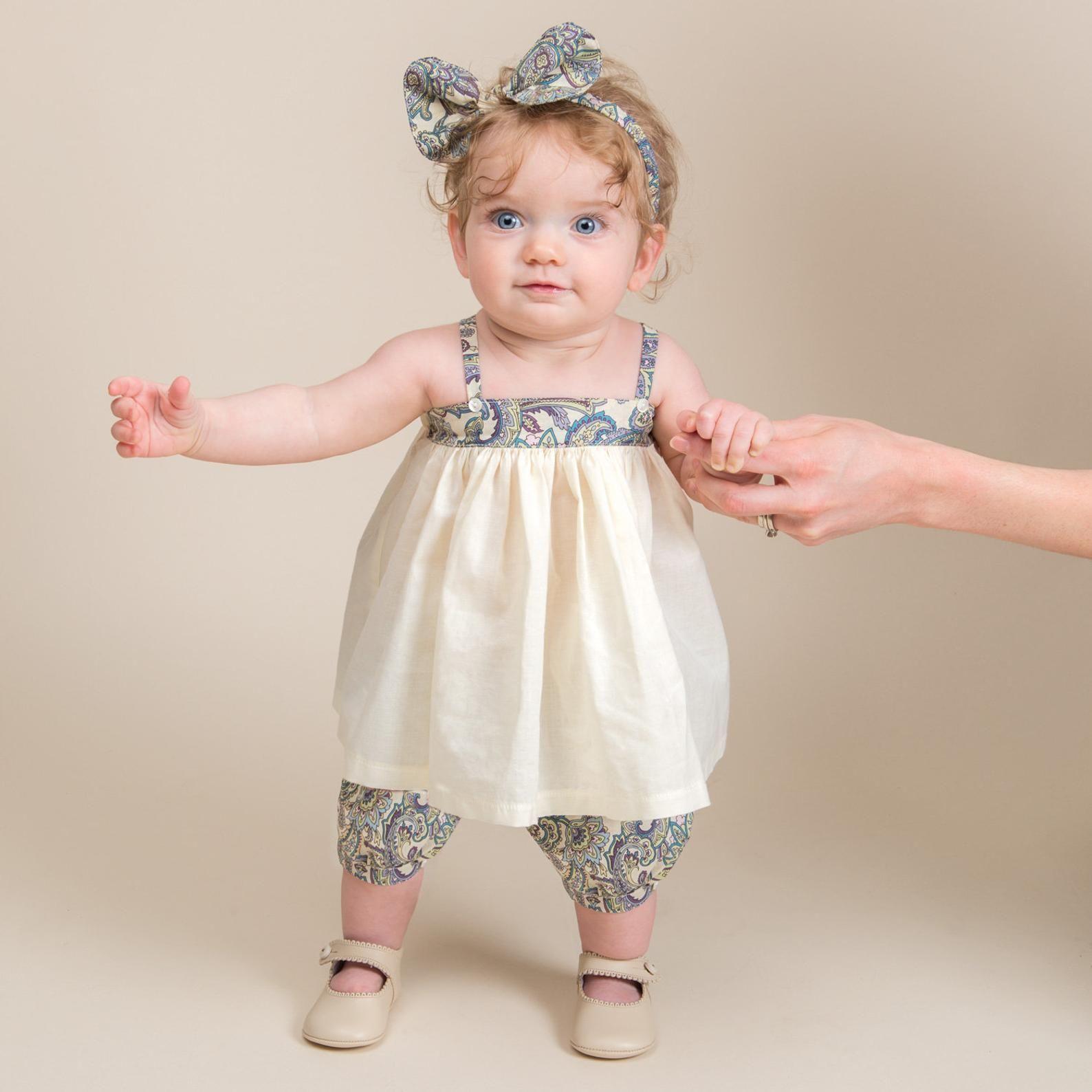 Baby Girl Dress Bloomer & Headband Set Baby Girl Cotton  Etsy