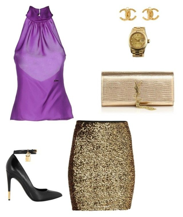 """Untitled #155"" by michelleeli ❤ liked on Polyvore featuring Dsquared2, Tom Ford, Yves Saint Laurent, Chanel and Rolex"
