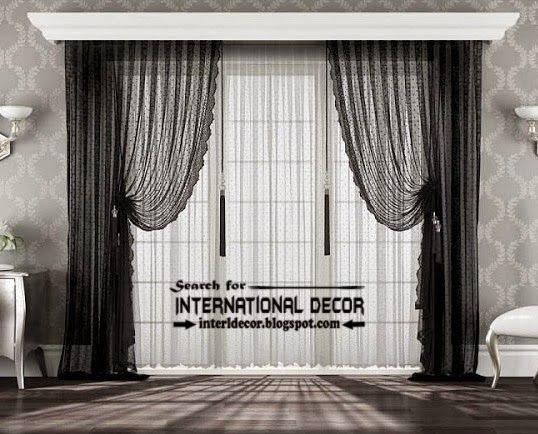 Best modern curtain designs 2015 curtain ideas colors, black and white  curtains