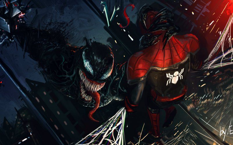 Wallpaper Spider Man And Venom Art Spiderman Artwork Spiderman Dc Comics Wallpaper