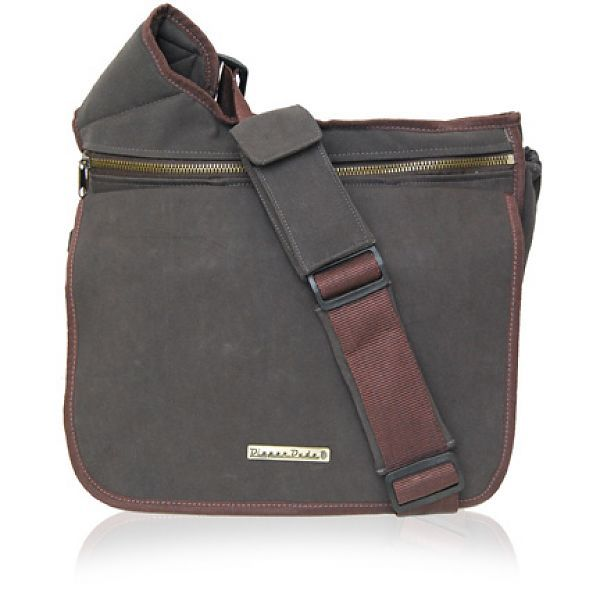 Stylish Diaper Bags For Dads Moms Dude Messenger I Brown Faux Suede