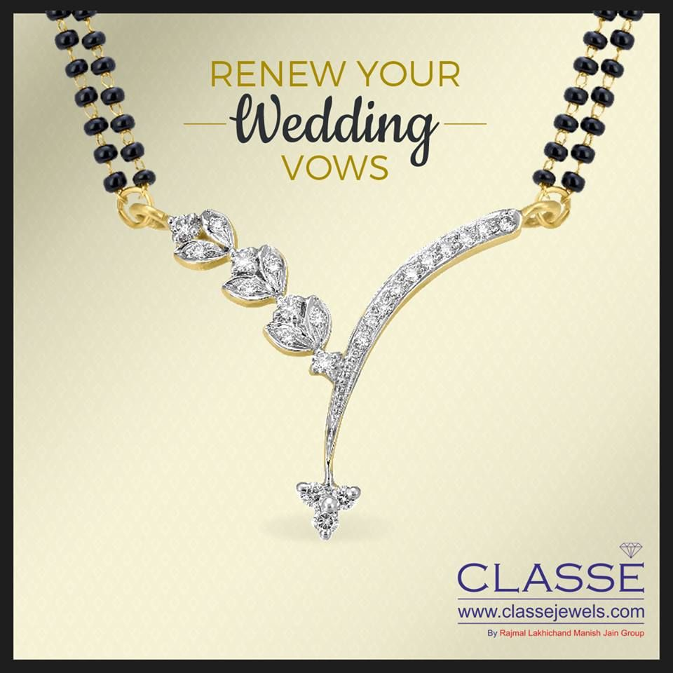 Renew your wedding vows mangalsutra diamond gold jewellery