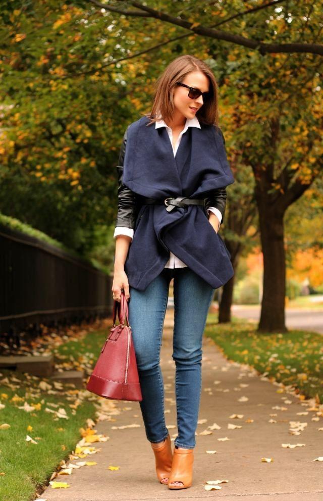 Tenue femme 2015 d 39 automne id es inspirantes jeans bleus bordeaux et tenue femme - Tenue originale femme ...