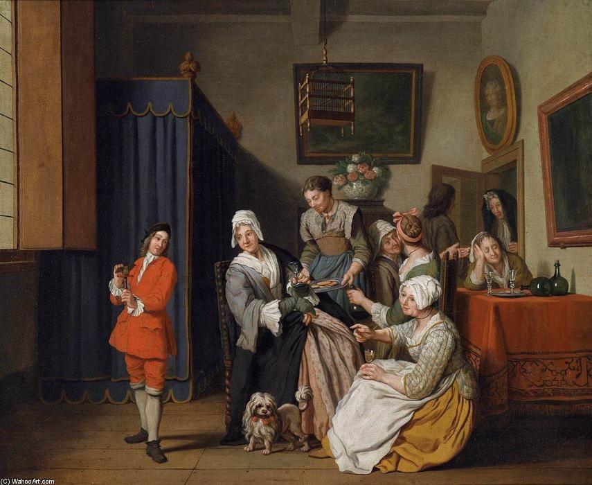 , huile sur toile de Jan Jozef Ii Horemans (1714-1790, Belgium)