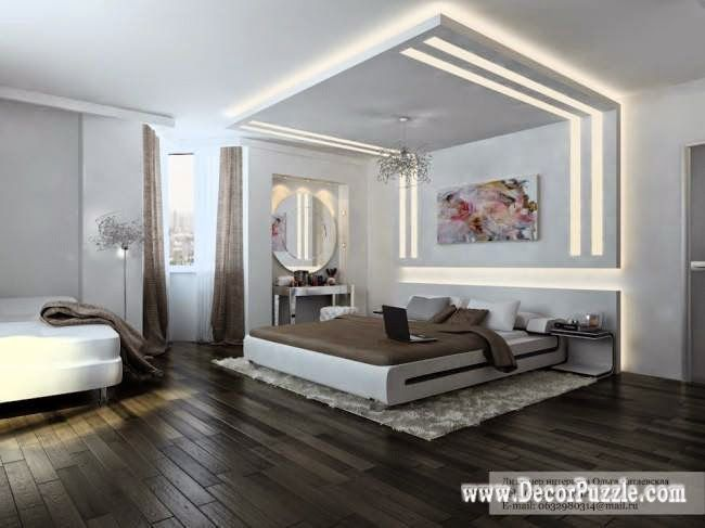 plasterboard ceiling designs for bedroom pop design 2015 with lighting - Brown Bedroom Design