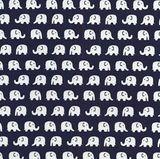 www.elephantinmyhandbag.com #Cream #Elephants #on #Navy #Blue Cotton #Fabric