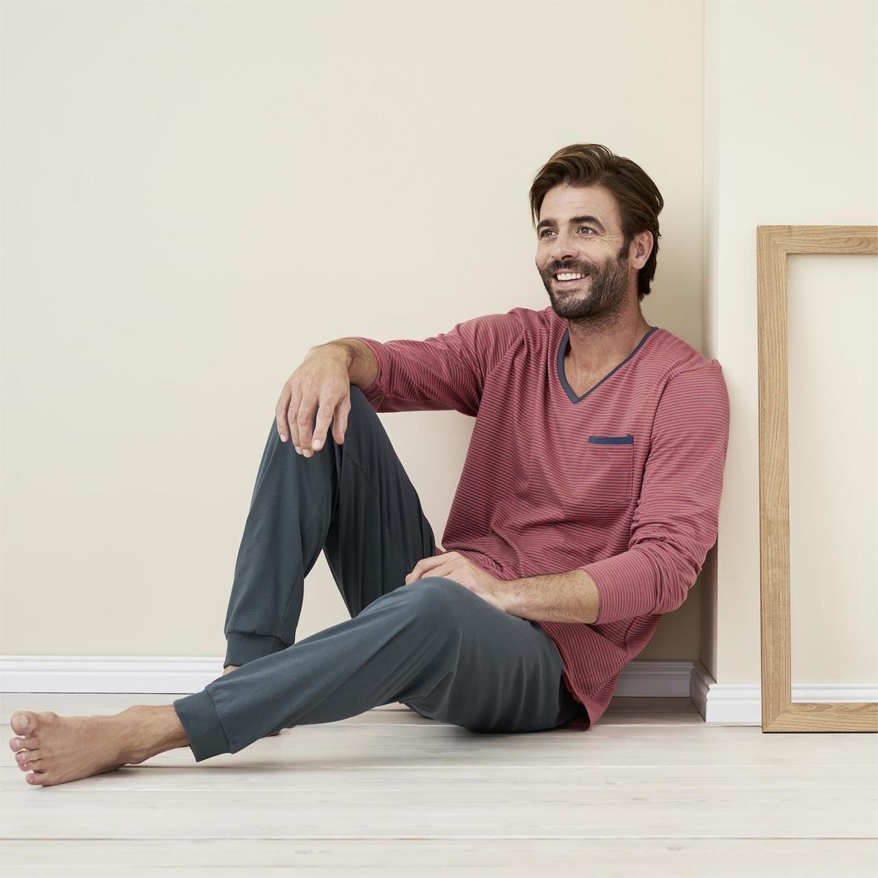 better price unique design sale retailer Stripped Pyjamas in Cayenne - Living Crafts   Organic Men ...