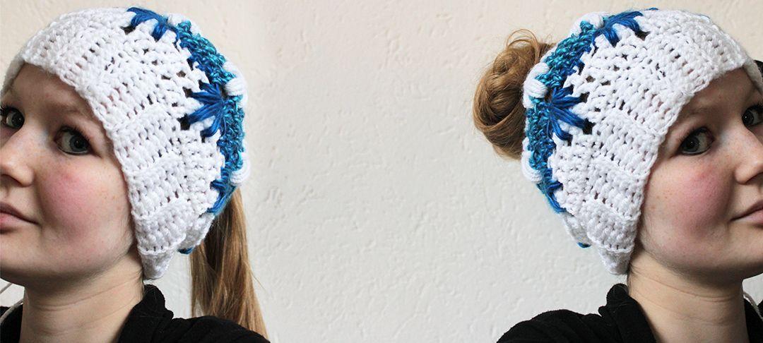 Frozen winter bun hat - free crochet pattern | Crochet head ...