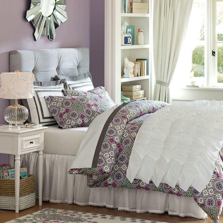 favorite color combo purple  gray  girls bedroom