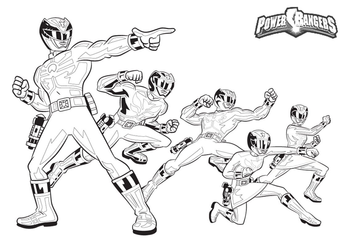 Coloring pages for power rangers - Power Rangers Megaforce Printable Coloring Page