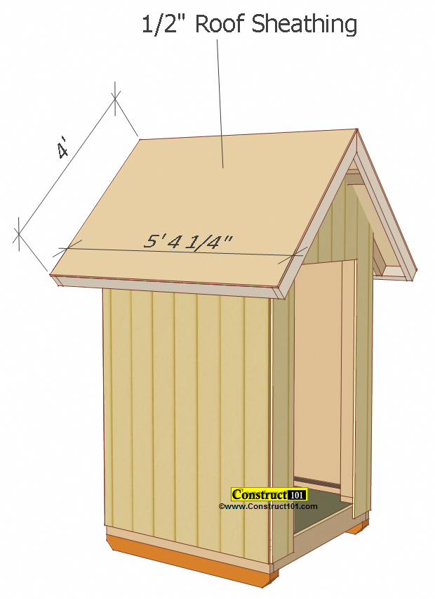 Small Shed Plans 4 X4 Gable Shed Roof Deck Plywood Buildyourownshed Small Shed Plans Small Sheds Shed Plans