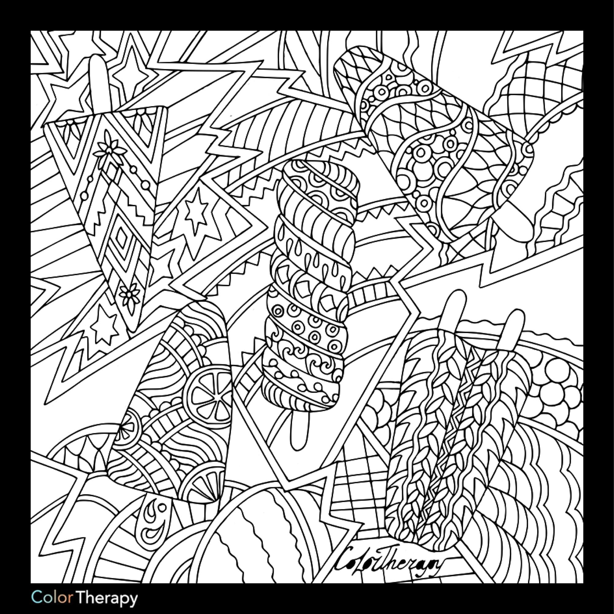 I Colored This Myself Using Color Therapy App It Was So Fun And Relaxing And It S Free Cute Coloring Pages Color Therapy App Free Coloring Pages